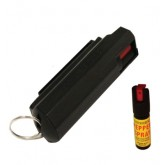 18% Pepper Spray with Hard Shell and Key Chain (BLACK)