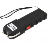 POLICE 928 - 58 Billion Max Voltage Heavy Duty Super Powerful Stun Gun - Rechargeable with LED Flashlight and Holster, Black