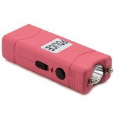 POLICE 801- Max Voltage Micro Stun Gun - Rechargeable With Bright LED Flashlight, Pink