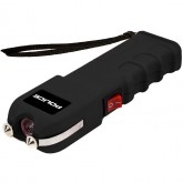 POLICE Stun Gun 928 - Max Voltage Heavy Duty Rechargeable with LED Flashlight, Black
