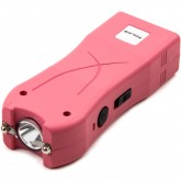 POLICE Stun Gun 398 - Max Voltage Mini Rechargeable With LED Flashlight - Pink