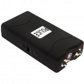 POLICE Stun Gun 800 - 30 Billion Mini Rechargeable with LED Flashlight, Black