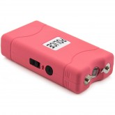 POLICE 800 - Max Voltage Mini Stun Gun - Rechargeable With LED Flashlight, Pink