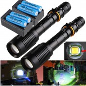 2 SetsTactical Police 15000LM CREE XML-T6 5 Modes Led Flashlight Torch Lamp USA
