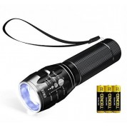 NAVIGATOR 1193 Metal LED Flashlight with Adjustable Focus and 3 Light Modes - Battery Included