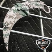 CSGO KARAMBIT HAWKBILL CLAW LIMITED EDITION MILITARY CAMO FIXED BLADE KNIFE