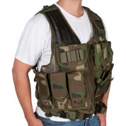 Modern Warrior Tactical Vest with Holster and Pouches Camo