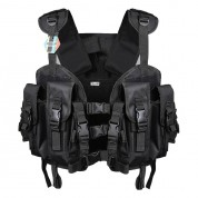 Pellor US Navy Seal Modular Load Swat Adjustable Shoulder and Waist Assault Tactical Vest with 3L Water Bag