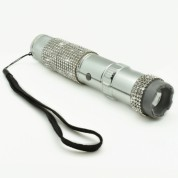 JOLT Rhine Stun Gun Flashlight Rechargeable - Silver
