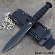 "6"" Kabai Tactical Combat Fixed Blade Neck Boot Hunting Knife w/ Sheath Camping"
