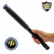 Streetwise™ Expandable 30M Stun Gun Baton With LED Flashlight - Rechargeable