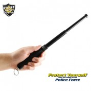 "Police Force 12"" Expandable Steel Baton With Key Ring"