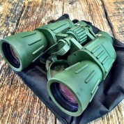 Day/Night 60X50 Military Army Binoculars Camouflage w/Pouch by Perrini 1208