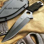 """7"""" TACTICAL MILITARY COMBAT FIXED BLADE NECK KNIFE DAGGER BOOT POCKET CAMPING"""