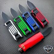 Lighter Holder w/ Spring Assisted Open Folding Pocket Knife Bro EDC Multi-Tool