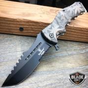 "8.5"" Marijuana CAMO Tracker Spring Assisted Open Folding Pocket Knife Tactical"