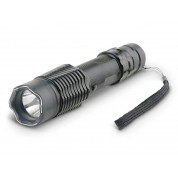 POLICE A2 - MAX POWER Metal Stun Gun With Tactical LED Flashlight - Rechargeable
