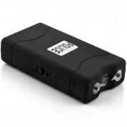POLICE 800 - Max Voltage Mini Stun Gun - Rechargeable With LED Flashlight, Black