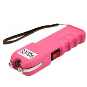 POLICE 928 - 58 Billion Heavy Duty Stun Gun - Rechargeable with LED Flashlight, Pink