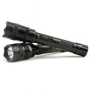 POLICE 1100 - MAX VOLTAGE Metal Heavy Duty Stun Gun - Rechargeable With LED Flashlight