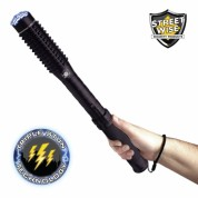 Streetwise™ Mini Barbarian 9M Stun Gun Baton With LED Flashlight - Rechargeable
