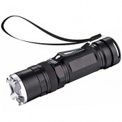 NAVIGATOR 1147 Portable Ultra Bright Handheld LED Flashlight with Adjustable Focus and 4 Light Modes, Outdoor Water Resistant Torch, Powered Tactical Flashlight for Camping Hiking etc Battery Included