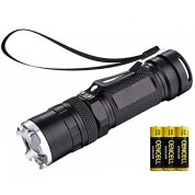 NAVIGATOR 1147 Metal LED Flashlight with Adjustable Focus and 4 Light Modes - Battery Included