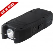 POLICE Stun Gun 1901 - Max Volt Mini Rechargeable with LED Flashlight, Black
