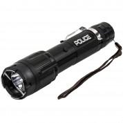 POLICE Stun Gun 1159 - 58 Billon Metal Rechargeable with LED Tactical Flashlight, Black