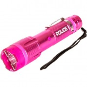 POLICE Stun Gun 1159 - 58 Billon Metal Rechargeable with LED Tactical Flashlight, Pink
