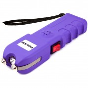 POLICE Stun Gun 928 - Max Voltage Heavy Duty Rechargeable with LED Flashlight Siren Alarm, Purple