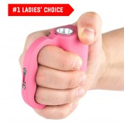 POLICE Stun Gun 519 - 58 Billion Rechargeable With LED Flashlight, Pink