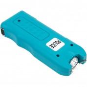 POLICE 628 - 58 Billion Mini Stun Gun - Rechargeable with Siren Alarm LED Flashlight, Blue