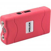 POLICE Stun Gun 800 - 30 Billion Mini Rechargeable with LED Flashlight, Pink