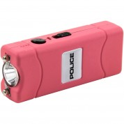 POLICE Stun Gun 801 - 35 Billion Micro Rechargeable with LED Flashlight, Pink