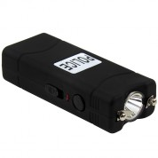 POLICE Stun Gun 801 - 35 Billion Micro Rechargeable with LED Flashlight, Black