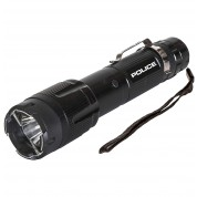 POLICE Stun Gun 1159 - 58 Billon Metal Rechargeable with LED Tactical Flashlight, Black
