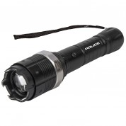 POLICE Stun Gun 8810 - Metal Heavy Duty Rechargeable with Zoom Tactical LED Flashlight
