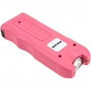 POLICE Stun Gun 628 - Max Volt Rechargeable with Siren Alarm & LED Flashlight, Pink
