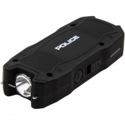 POLICE Stun Gun 1901 - Max Voltage Mini USB Rechargeable with LED Flashlight, Black