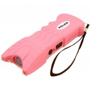POLICE Stun Gun 916 - 53 Billion Rechargeable with Safety Disable Pin LED Flashlight, Pink