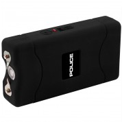 POLICE Stun Gun 800 - 30 Billion Mini Rechargeable with LED Flashlight, Black