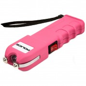 POLICE Stun Gun 928 - Max Voltage Heavy Duty Rechargeable with LED Flashlight, Pink