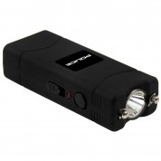 POLICE Stun Gun 801 - 40 Billion Micro Rechargeable with LED Flashlight - Black