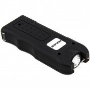POLICE Stun Gun 628 - Max Volt Rechargeable with Siren Alarm & LED Flashlight, Black