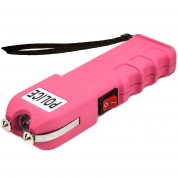 POLICE 928 - 58 Billion Heavy Duty Stun Gun - Rechargeable with LED Flashlight, Pink