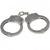 VIPERTEK Double Lock Steel Police Edition Professional Grade Handcuffs (Silver)