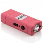 POLICE 800 - Max Voltage Micro Stun Gun - Rechargeable With Bright LED Flashlight, Pink