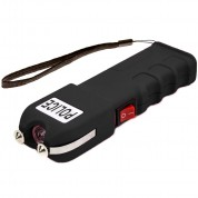 POLICE 928 - Extreme Voltage Professional Heavy Duty Stun Gun - Rechargeable With LED Flashlight and Holster Case, Black