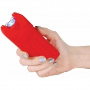 POLICE TW12 - MAX VOLTAGE Mini Stun Gun - Rechargeable With LED Flashlight & Police Siren Alarm - Red